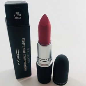 Mac Powder Kiss Lipstick 301 A Little Tamed